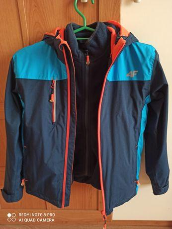Wodoodporna kurtka  4F chłopięca  wiosenna Membrana 5000 r. 134/ bdb +