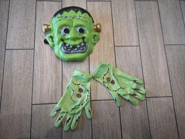 Maska z rękawiczkami Frankenstein-a Frankenstein, halloween zombie