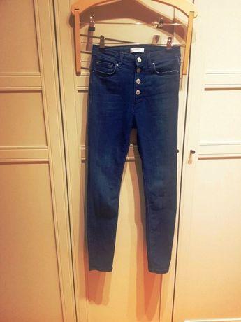 Spodnie Zara dżinsy z wysokim stanem , dżinsy Zara