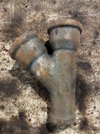 Чугунный раструбный тройник канализация СССР