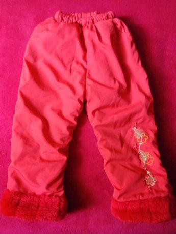 Grube spodnie na zimę