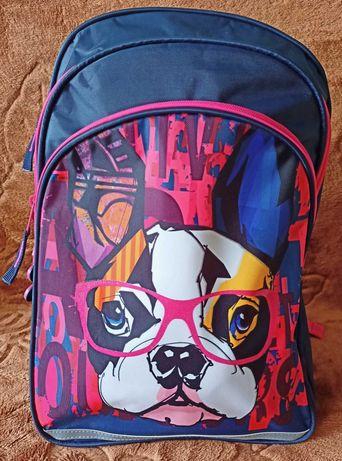 PASO plecak dziecięcy buldog pies w okularach nowy