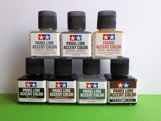 Смывки Tamiya Panel Line Accent Color для сборных моделей. Ассортимент