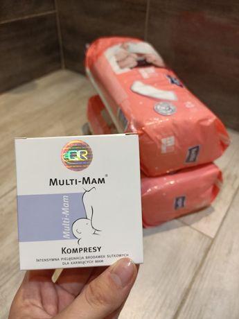 Kompresy Multi Mam + gratis podpaski poporodowe bella mama