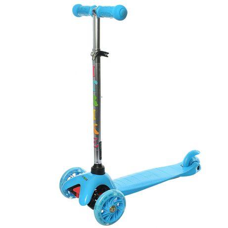 Самокат детский iTrike BB 3-013-4-C трехколёсный голубой