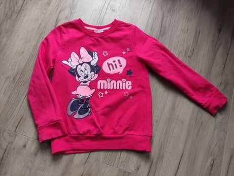 Bluzka bluza różowa z myszką Minnie r. 122/128