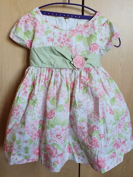 Sukienka wizytowa dla dziewczynki 2 latka