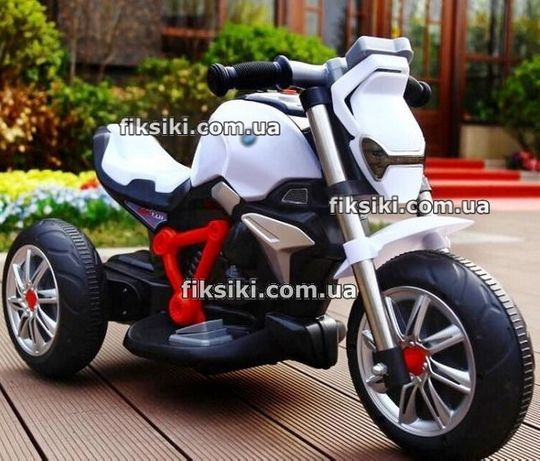 Детский мотоцикл электромобиль 3639 белый, Дитячий електромобiль