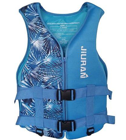 Colete de natação para crianças e adulto. Segurança flutuante