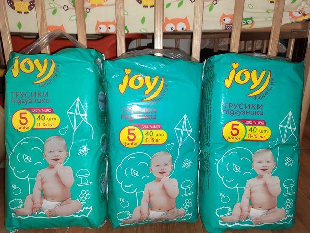 Бесплатная доставка Трусики-подгузники Joy Run & Fun размер 5 (11-15 )