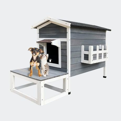 Domek dla kota buka dla psa taras