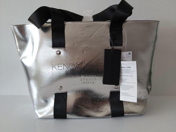 Srebrna torebka shoperka Kendall + Kylie torba duża NOWA