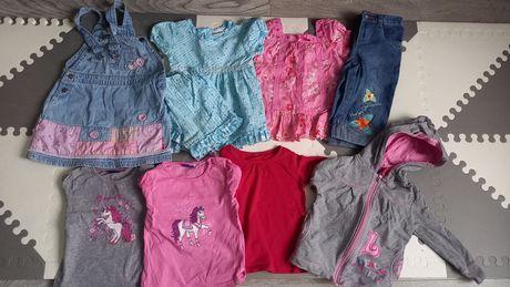 Wysyłka 1zł! 9szt Zestaw dla dziewczynki 86 /92 H&M Lupilu