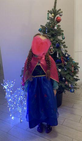 Костюм Анны платье на утренник нарядное холодное сердце frozen Эльза