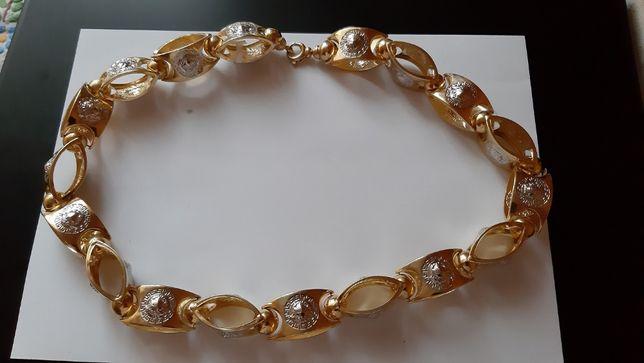 Złoty łańcuch męski Versace