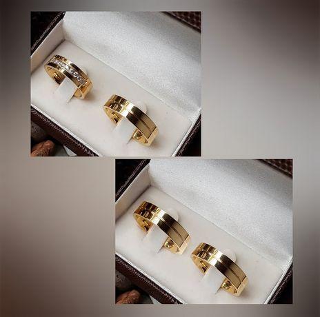 Piękne Złote Obrączki Ślubne