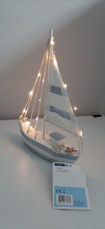 Светильник декоративный деревянный кораблик ночник статуэтка Г