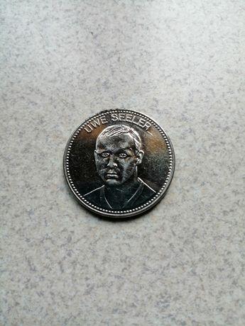 Dla kolekcjonera moneta Mexico 70 Uwe Seeler w b. dobrym stanie.