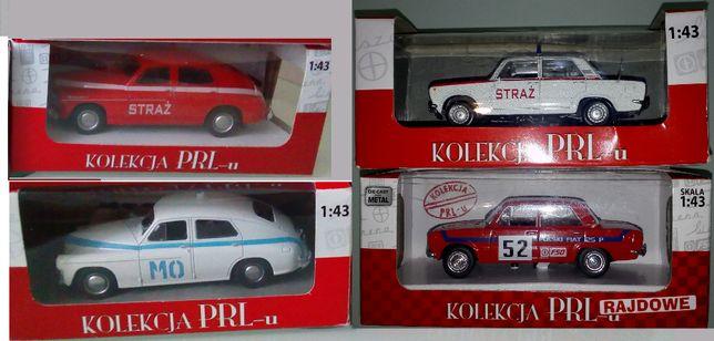 Kolekcja PRL-u Dafii Fiat 125p, Warszawa M20 skala 1:43