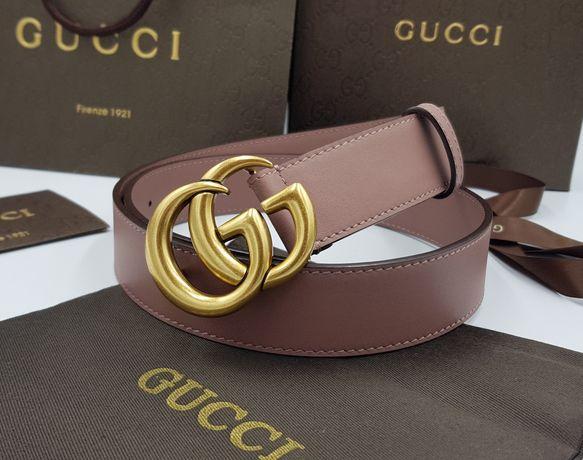Женский кожаный ремень Gucci. Цвет пудра