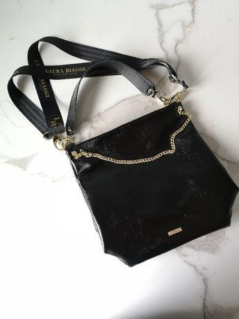 czarna damska torebka Laura Biaggi