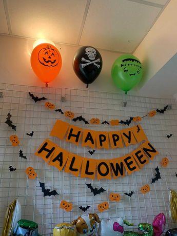 Гірлянда прапорці розтяжка хелловін гирлянда декор хэллоуин