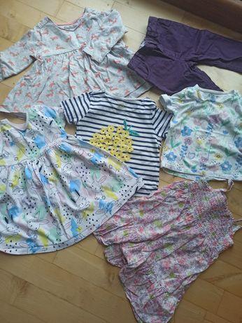 Zestaw, koszulki, sukienki, spodnie