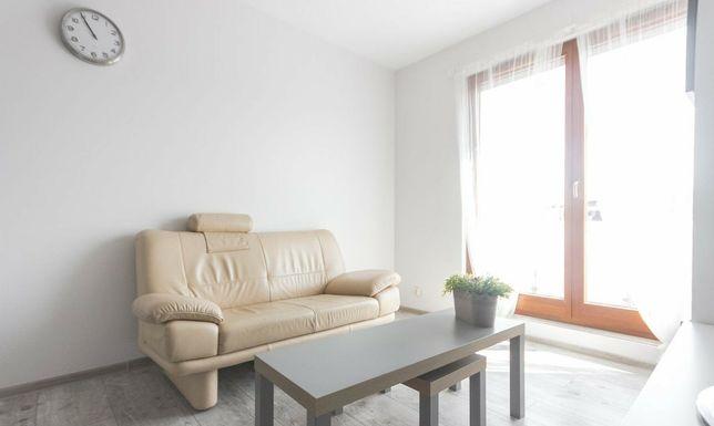 KLER sofa dwuosobowa skóra beż