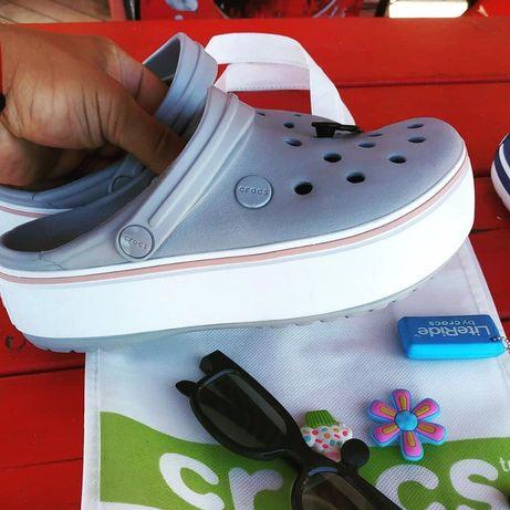 Распродажа! Кроксы Оригинал Крокс Crocs Crocband Platform Clog 36-39