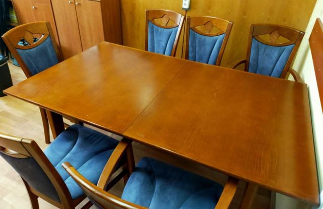 Duży stół drewniany Klose 160 x 95 cm rozkładany do 205 lub 250 cm