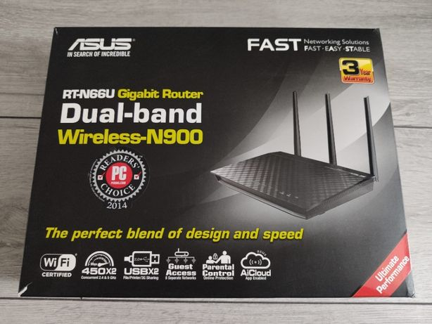Router do internetu Asus RT-N66U 2,4/5 GHz 2xUSB 3x antena 450 Mbps