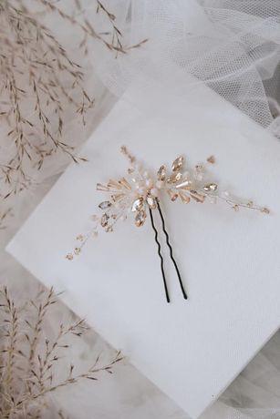 Szpilka do włosów Ariel / ślubna ozdoba / Flow Handmade Accessories