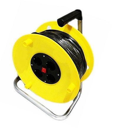 Przedłużacz bębnowy na bębnie 25m 2x2,5mm z wyłącznikiem