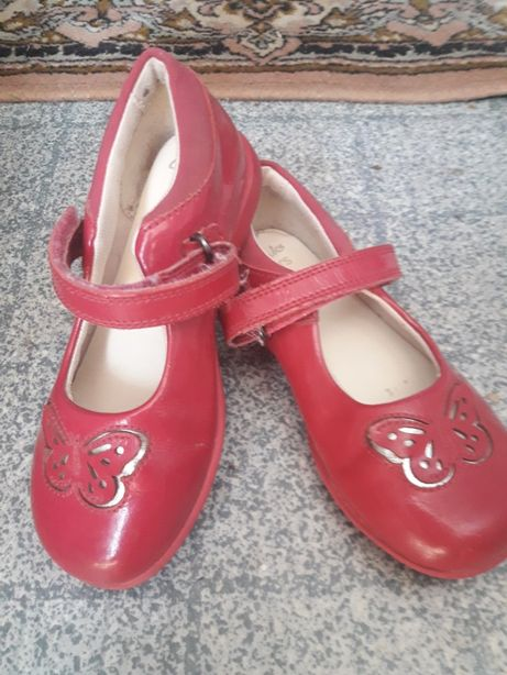 Туфли кожаные Clarks с мигалками