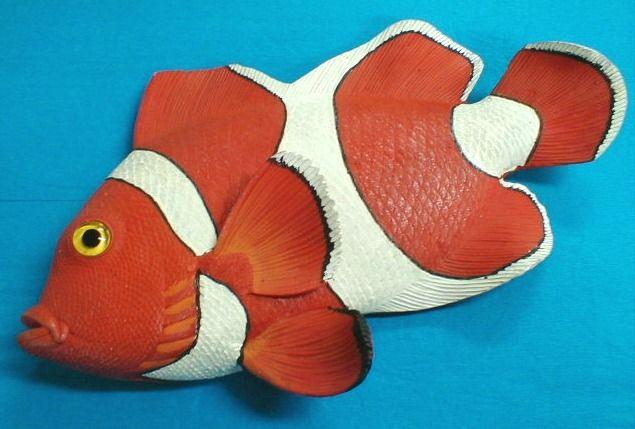 Peixe Nemo de resina 23x21x5cm