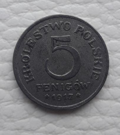 5 fenigow 1917 F Królestwo Polskie zamienie