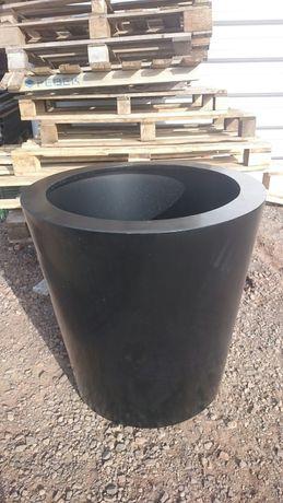 Donica Aluminiowa 80>60cm Czarna Design Nowość