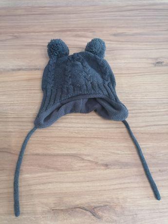 Ciepła zimowa czapka h&m 62-68