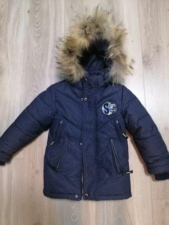 Зимова куртка для хлопчика на зріст 104 см