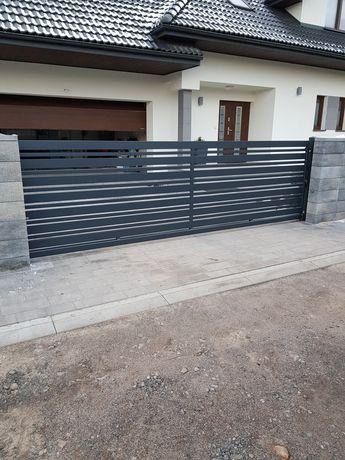 Przęsło ogrodzeniowe, ogrodzenie metalowe, stalowe, brama
