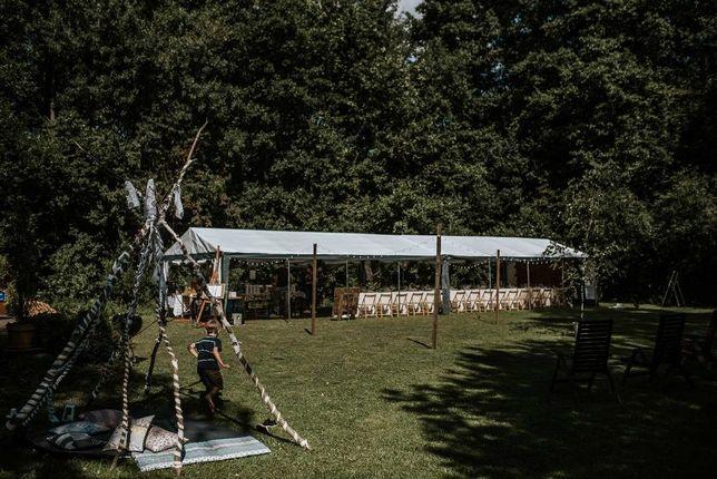 Wynajmę dwa namioty imprezowe 5x8m, sprzęt Audio Technics.