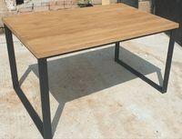 Stół industrialny/loft.Blat lity dąb.