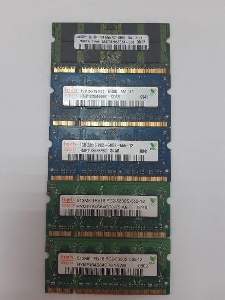 Память для ноутбука SO-DIMM DDR2 1GB та 512 MB