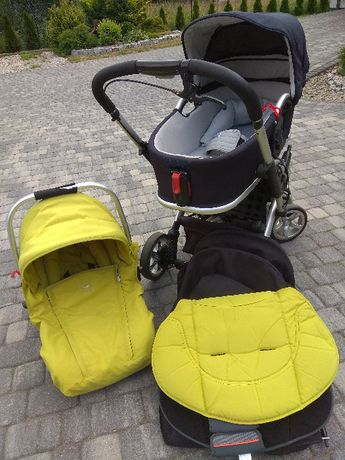 Wózek Casualplay S6 3w1 uniwersalny kolor spacerówka,gondola ,fotelik