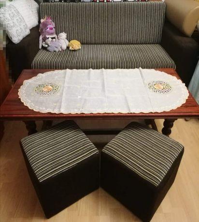 Sofa 2os rozkładana szafa 4drz ława