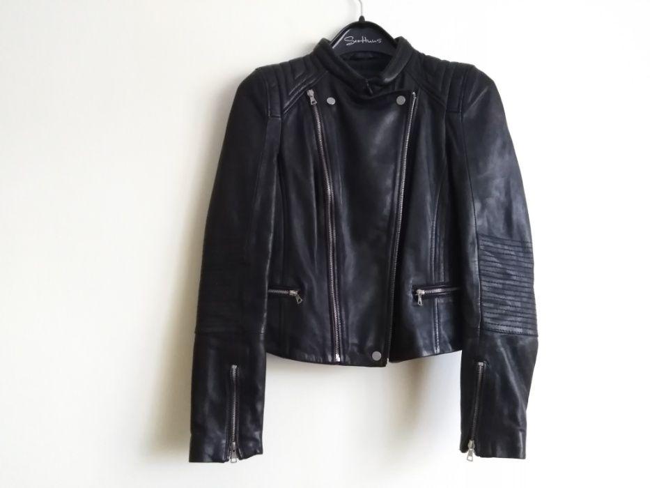 Czarna, skórzana kurtka motocyklowa - nowa z metką Lubycza Królewska - image 1
