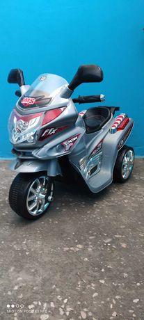 Дитячий триколісний електро мотоцикл на акумуляторі  - M 0567 (сірий)