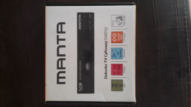 Dekoder TV Cyfrowej Manta DVB-T HD