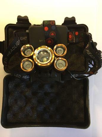 Lanterna 5 Led 10000 lumens com função Sensor automático.