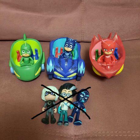 PJ Masks Герои в масках, фигурки с машинками